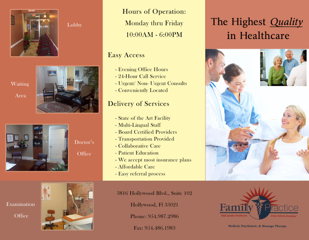 brochure for medical office personality web designs
